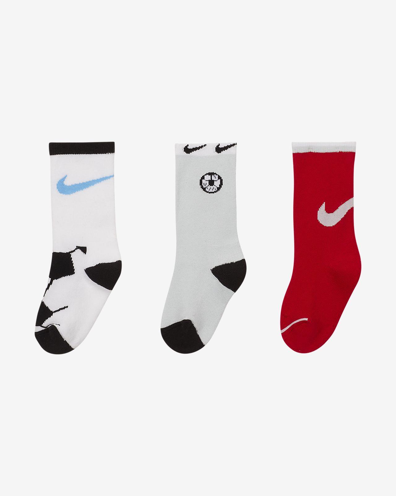 Nike Little Kids' Cushioned Crew Socks (3-Pack)