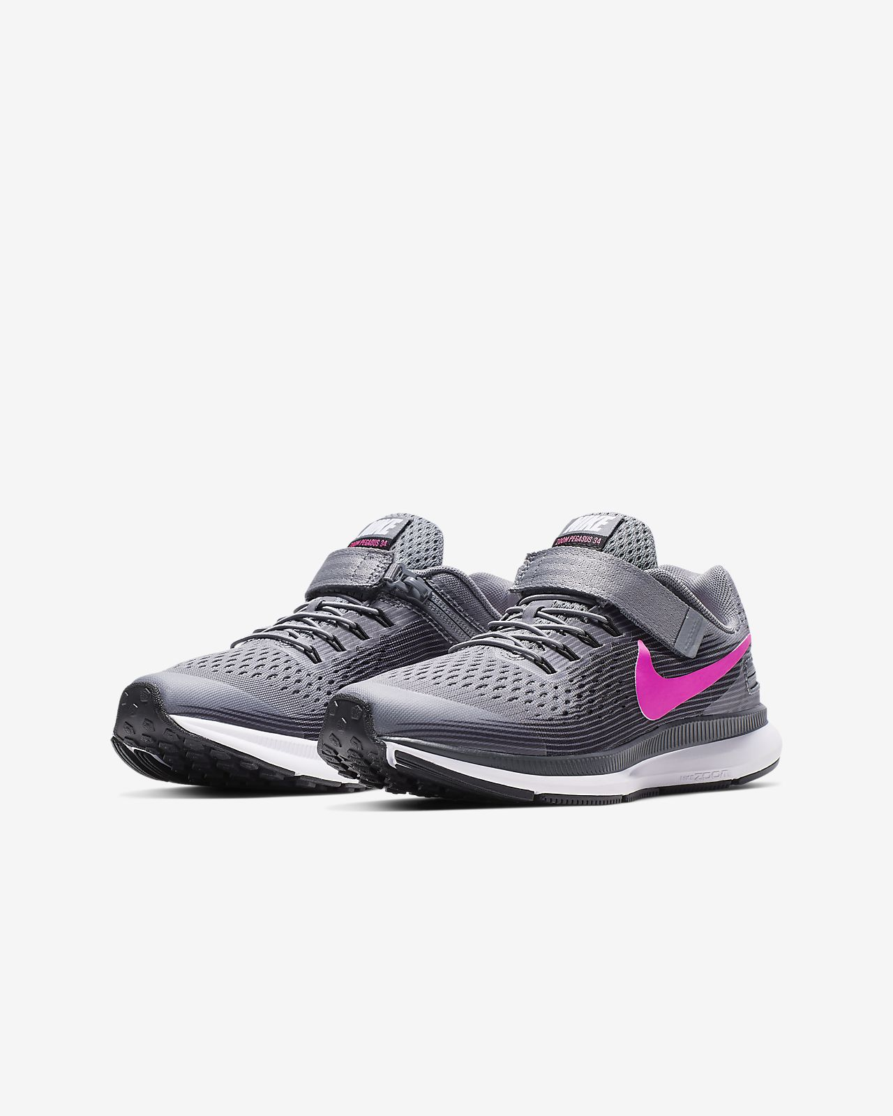 7ae60336d2de Nike Zoom Pegasus 34 FlyEase Little Big Kids  Running Shoe. Nike.com