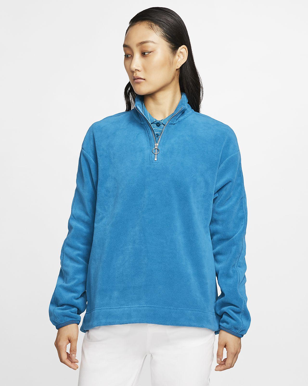Camisola de golfe com fecho até meio Nike Therma Victory para mulher