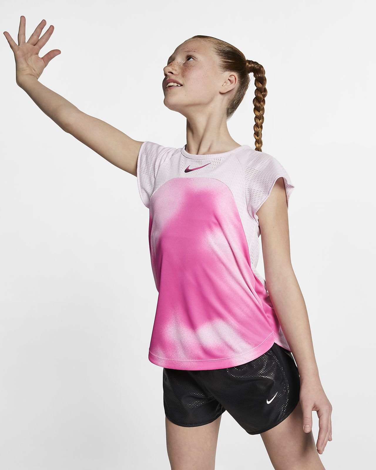 Nike Instacool Big Kids' (Girls') Short-Sleeve Running Top