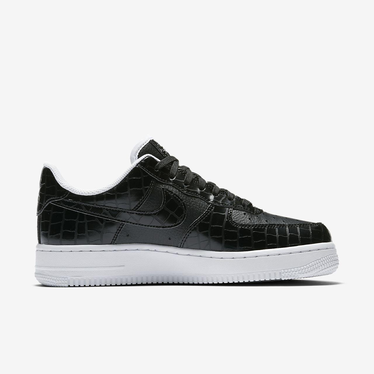 Nike Air Force 1 '07, Herren Sneakers, Schwarz (black/black), 40.5 Eu