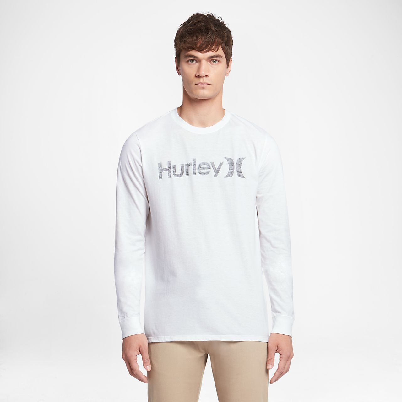 ... Hurley One And Only Push Through Men's Long Sleeve T-Shirt