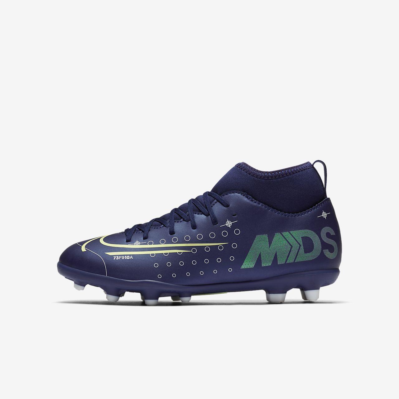 รองเท้าสตั๊ดฟุตบอลเด็กเล็ก/โตสำหรับพื้นหลายประเภท Nike Jr. Mercurial Superfly 7 Club MDS MG