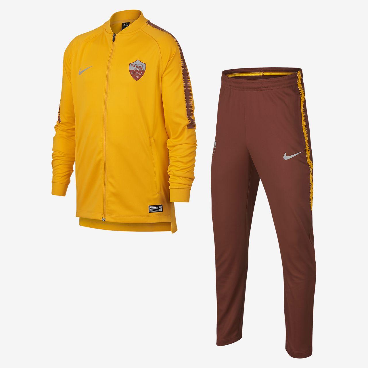 40dc9afad2 Tuta da calcio A.S. Roma Dri-FIT Squad - Ragazzi. Nike.com IT