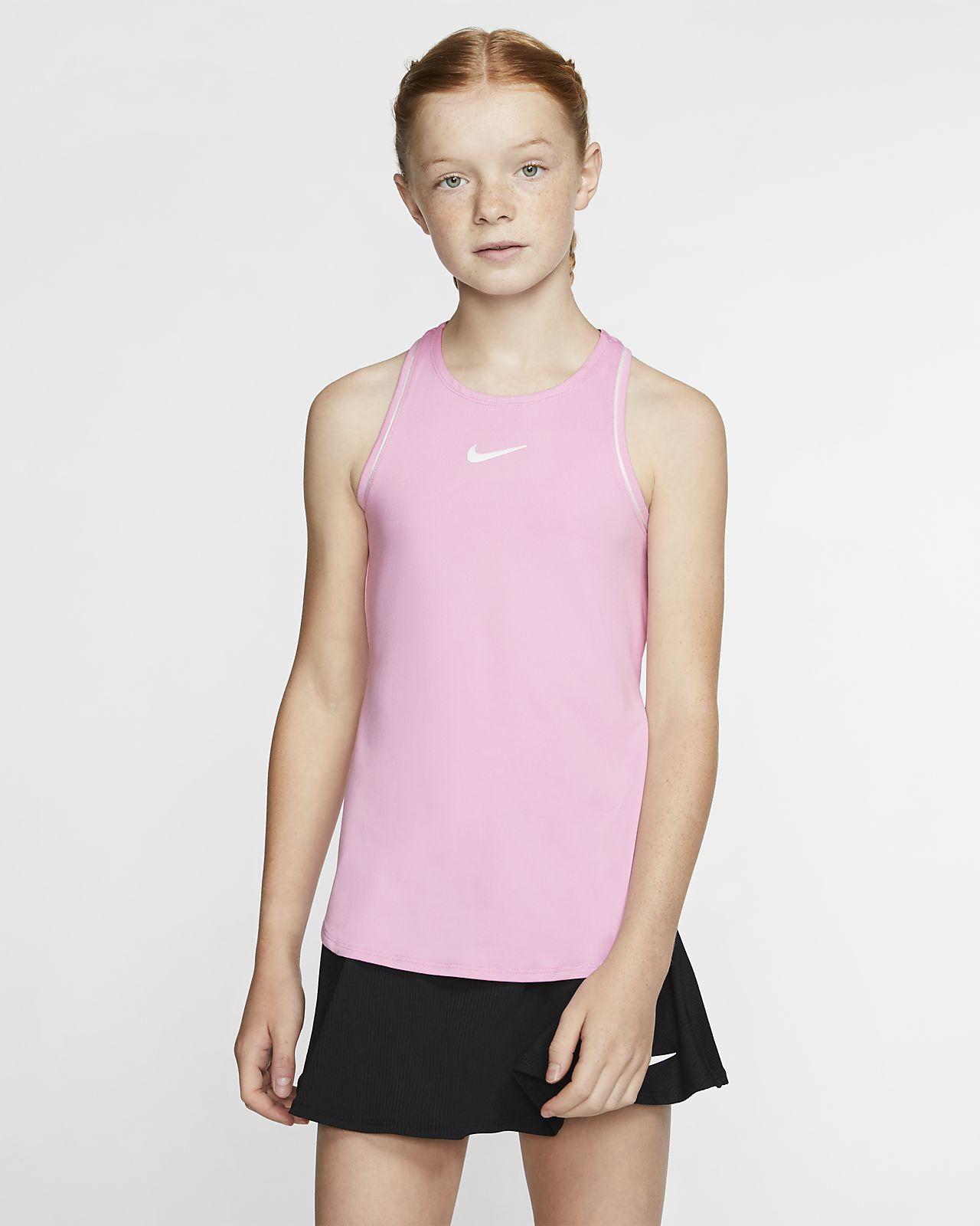 Koszulka tenisowa bez rękawów dla dużych dzieci (dziewcząt) NikeCourt Dri-FIT