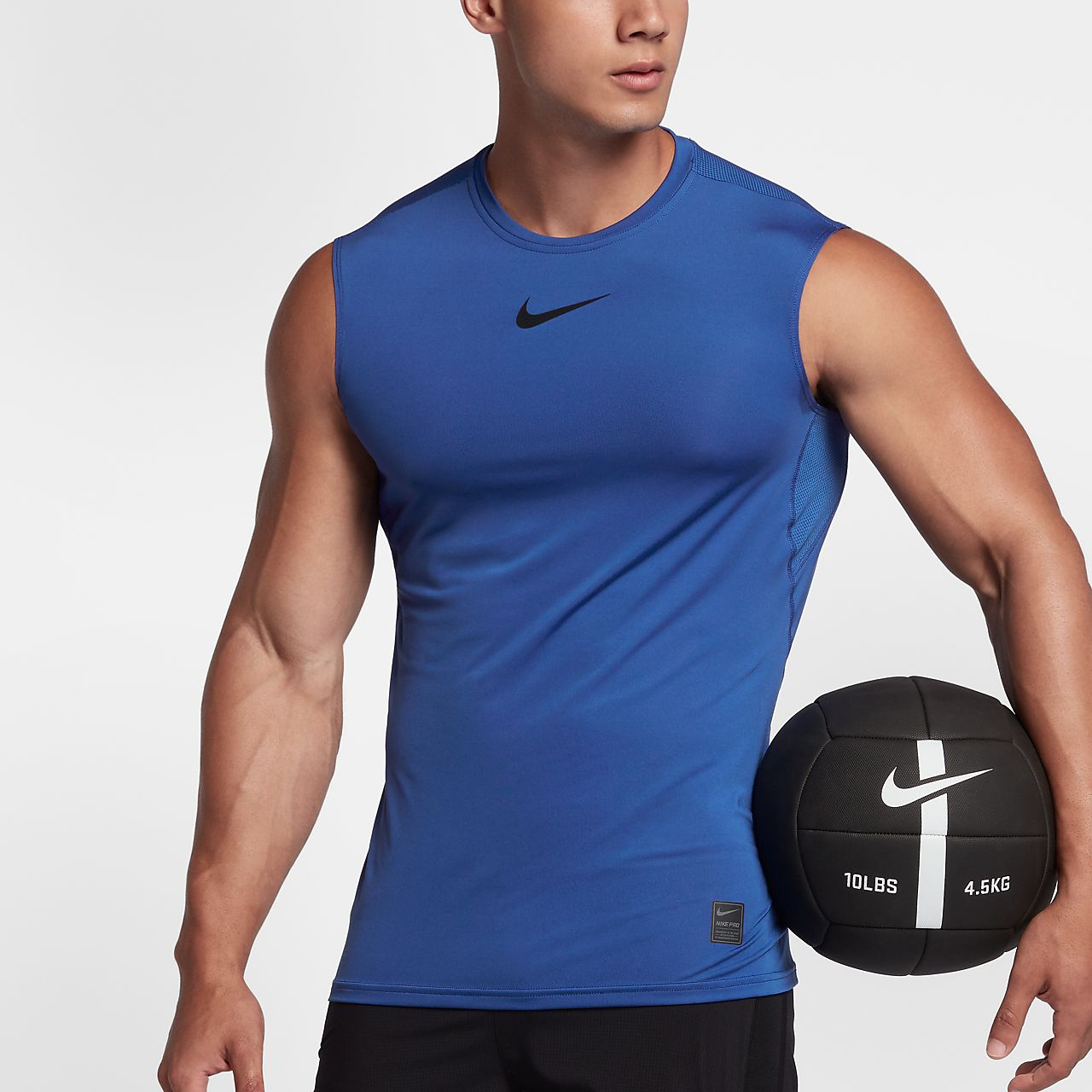 8d88f4af46b7f Nike Pro Men's Sleeveless Fitted Top. Nike.com