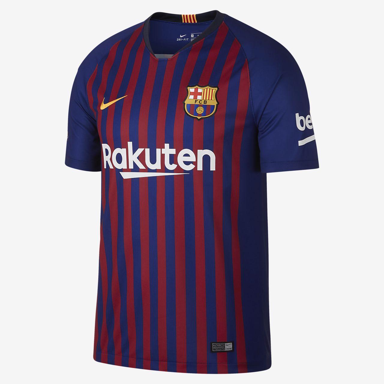 2018/19 FC Barcelona Stadium Home Men's Football Shirt