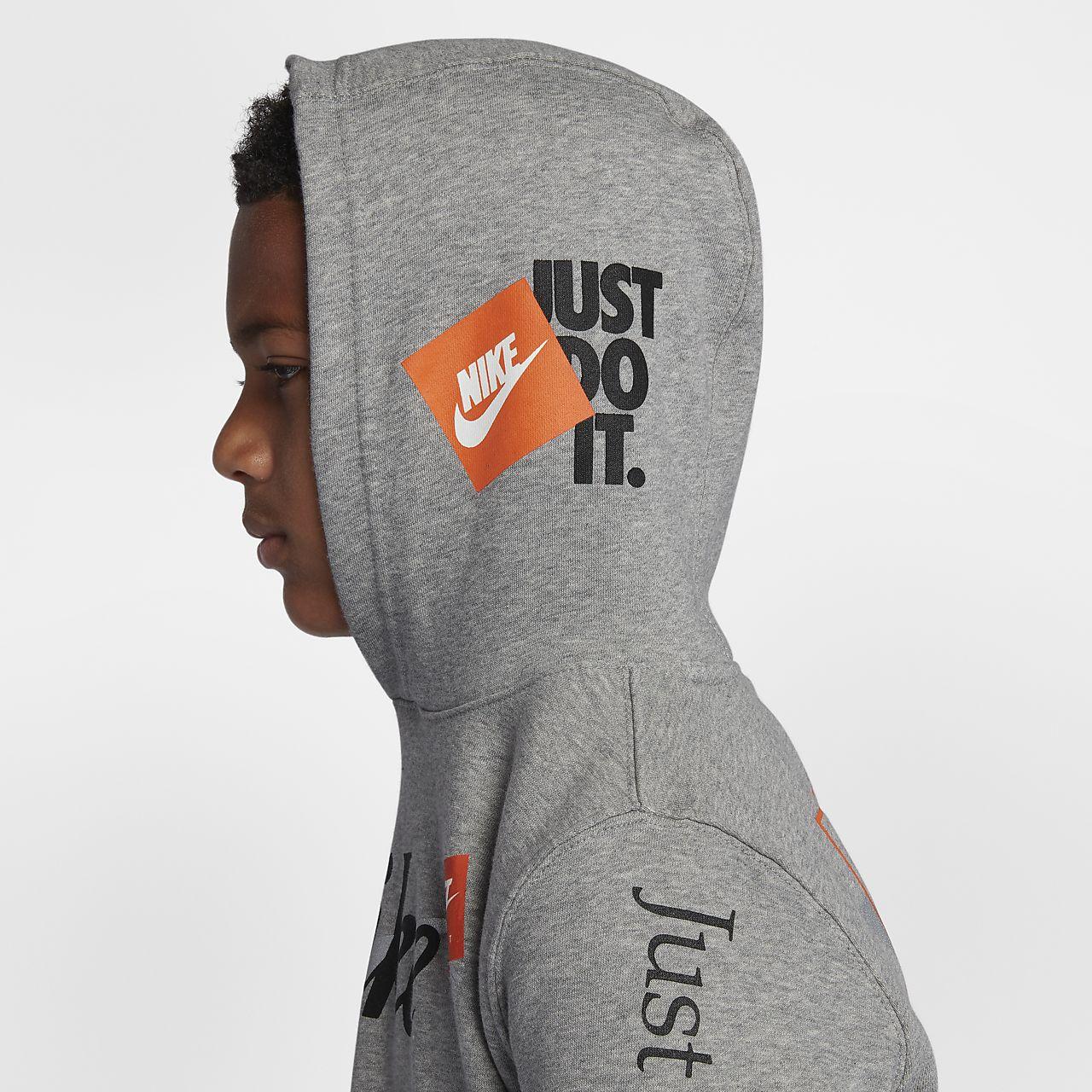 e52c2dd156eecc Nike Sportswear Big Kids  (Boys ) Just Do It Pullover Hoodie. Nike.com