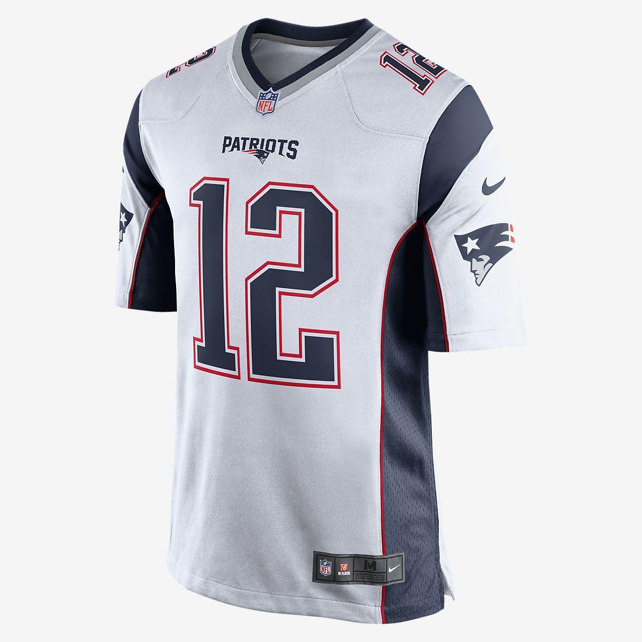 d12c893fdf6f8 ... Camiseta oficial de fútbol americano de visitante para hombre de NFL  New England Patriots (Tom