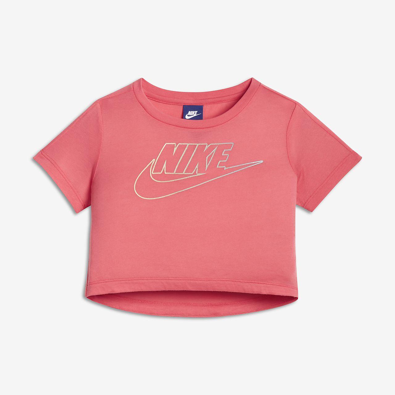 Camiseta de manga corta para niñas talla grande Nike Sportswear ... c2fa8eebb41f4