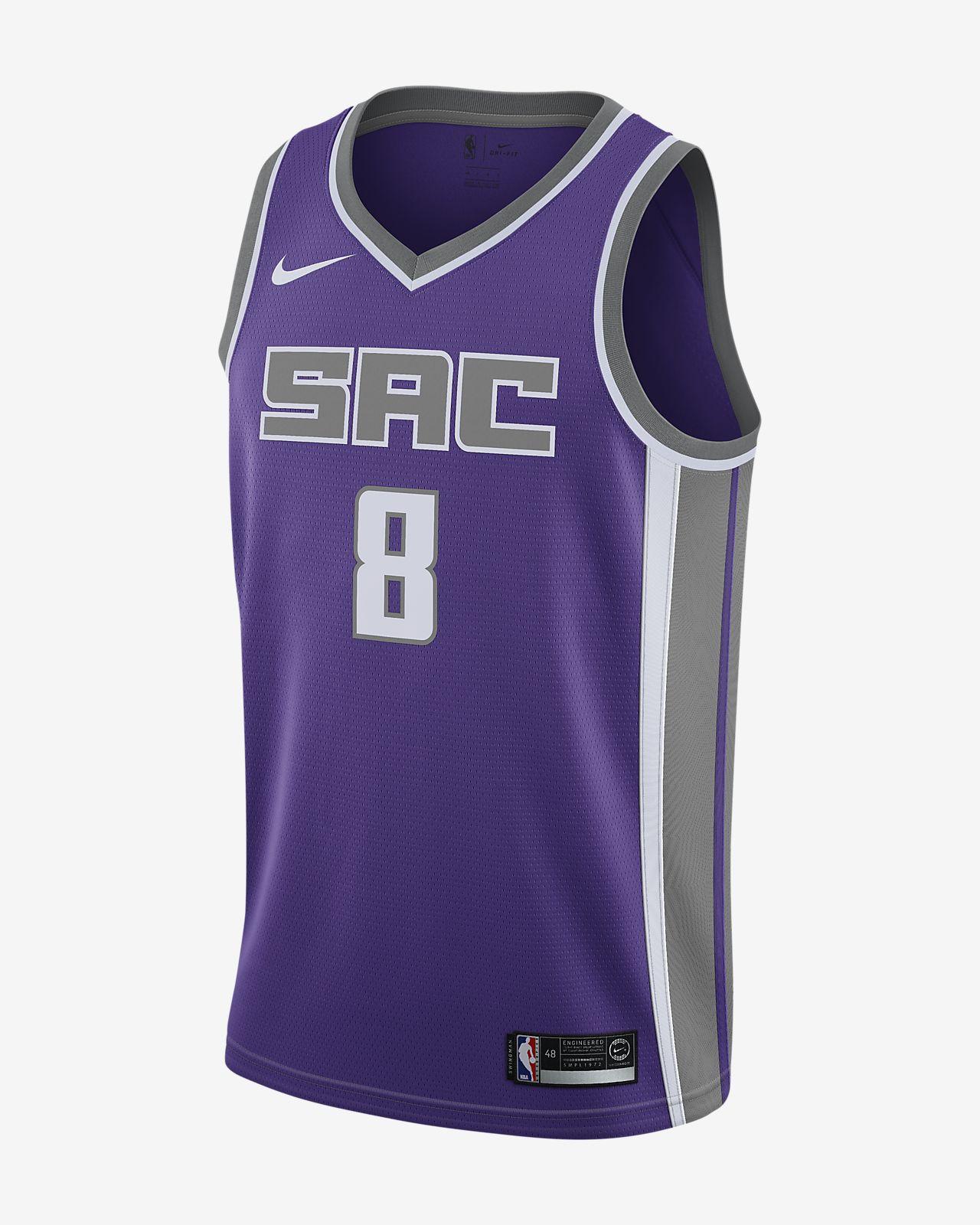 Camiseta conectada Nike NBA para hombre Bogdan Bogdanović Icon Edition Swingman (Sacramento Kings)