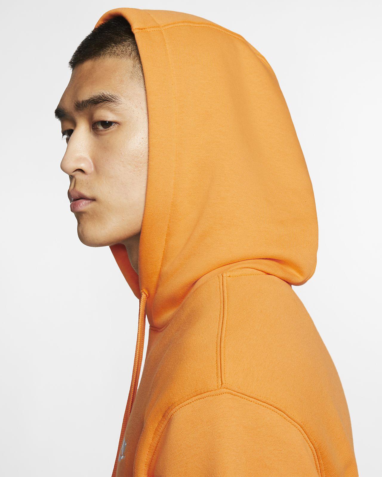 oben Nike Club Fleece Graphic Pullover Hoodie Pink Quartz