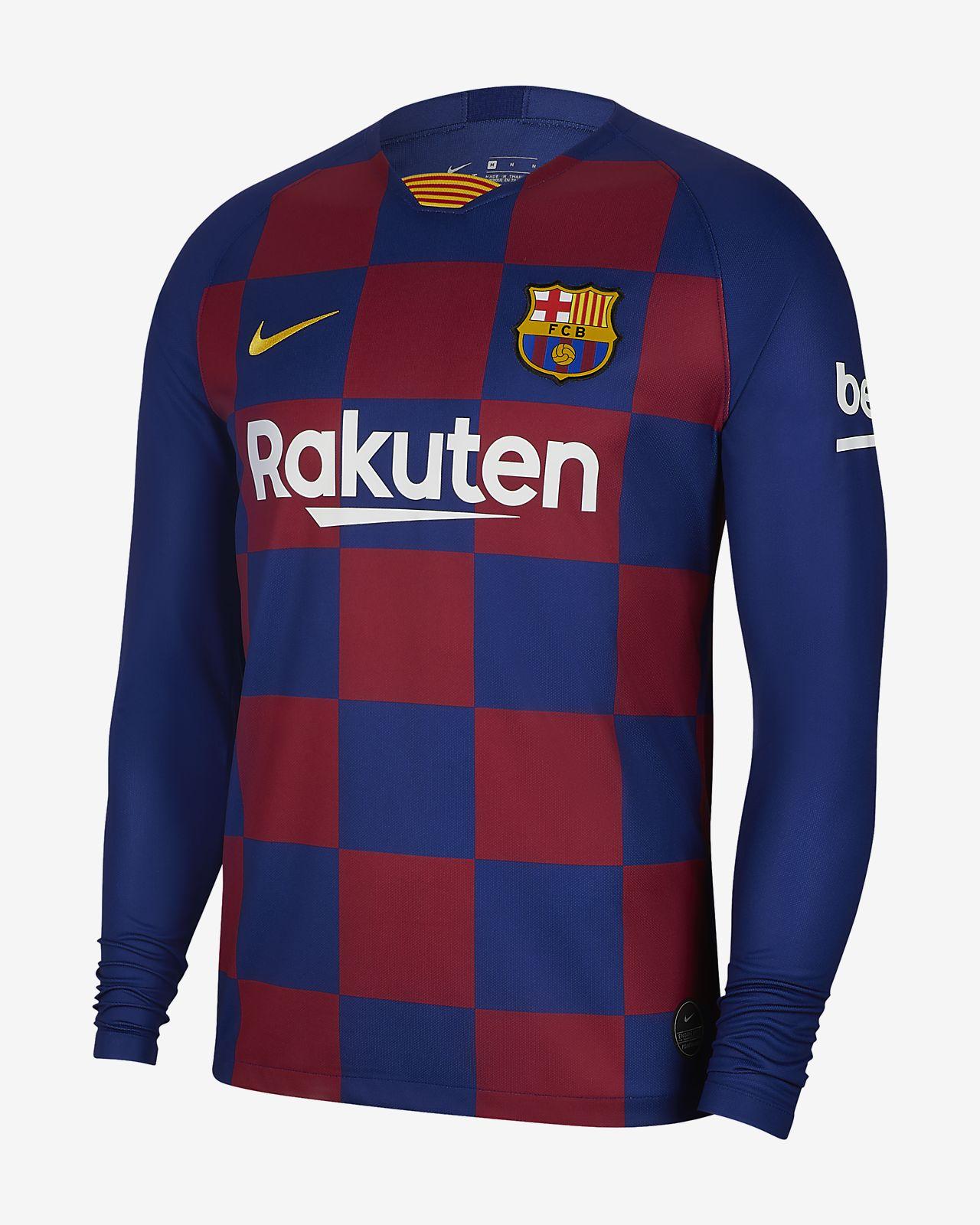Męska domowa koszulka piłkarska z długim rękawem FC Barcelona Stadium 2019/20