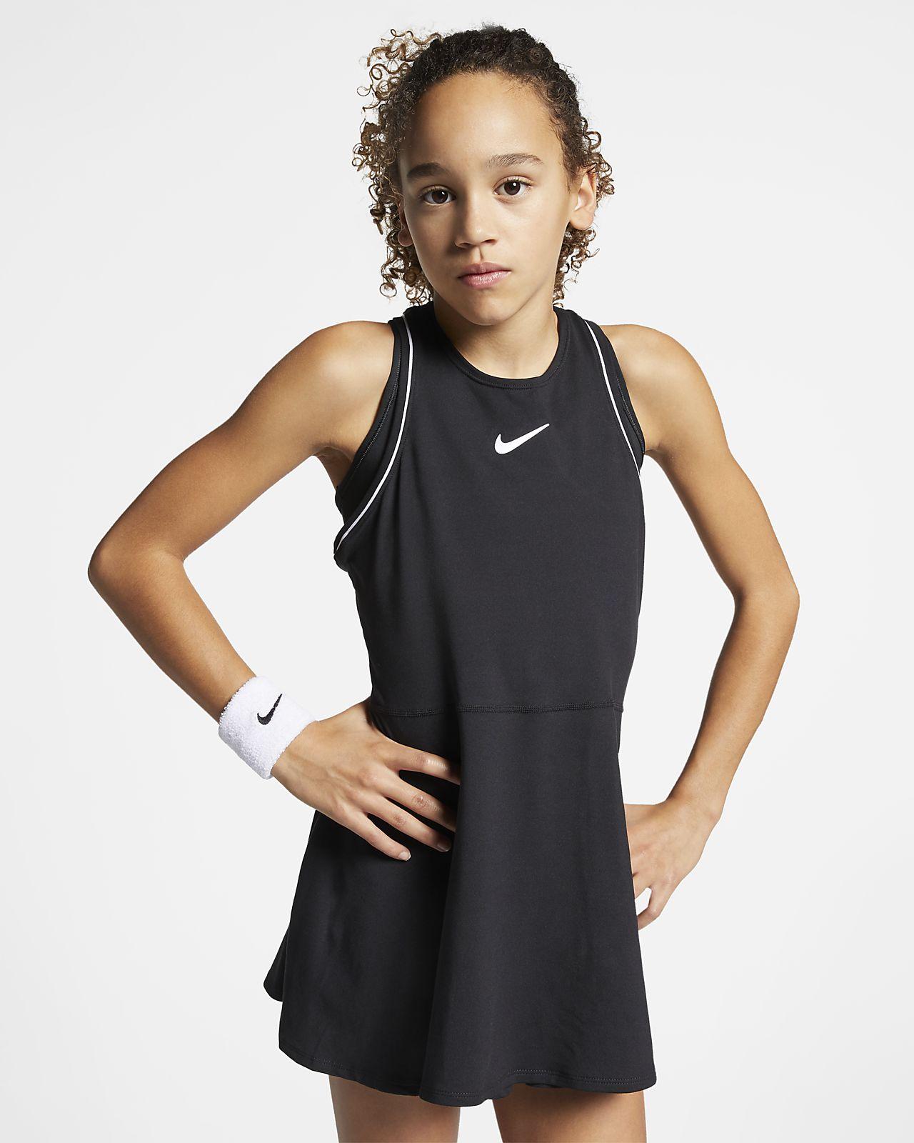 NikeCourt Dri-FIT-tenniskjole til store børn (piger)