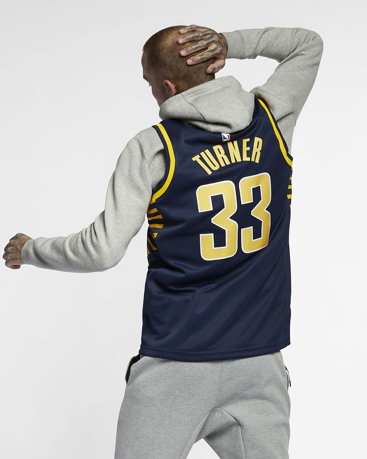 07e02b6e153 ... Myles Turner Icon Edition Swingman (Indiana Pacers) Men's Nike NBA  Connected Jersey