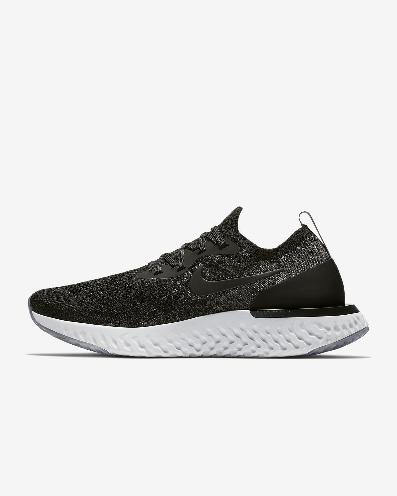Nike WMNS Epic React Flyknit [AQ0070-001] Women Running Shoes Black/Dark Grey