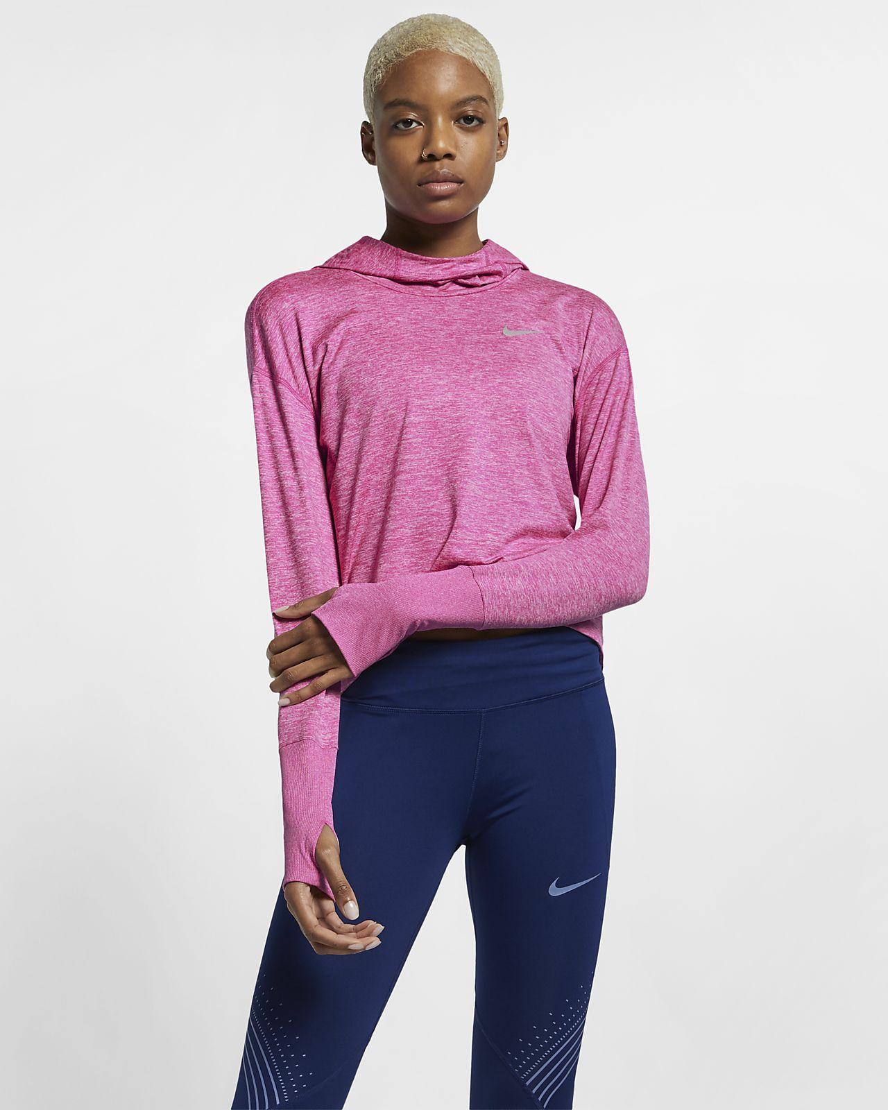 Nike női kapucnis futópulóver