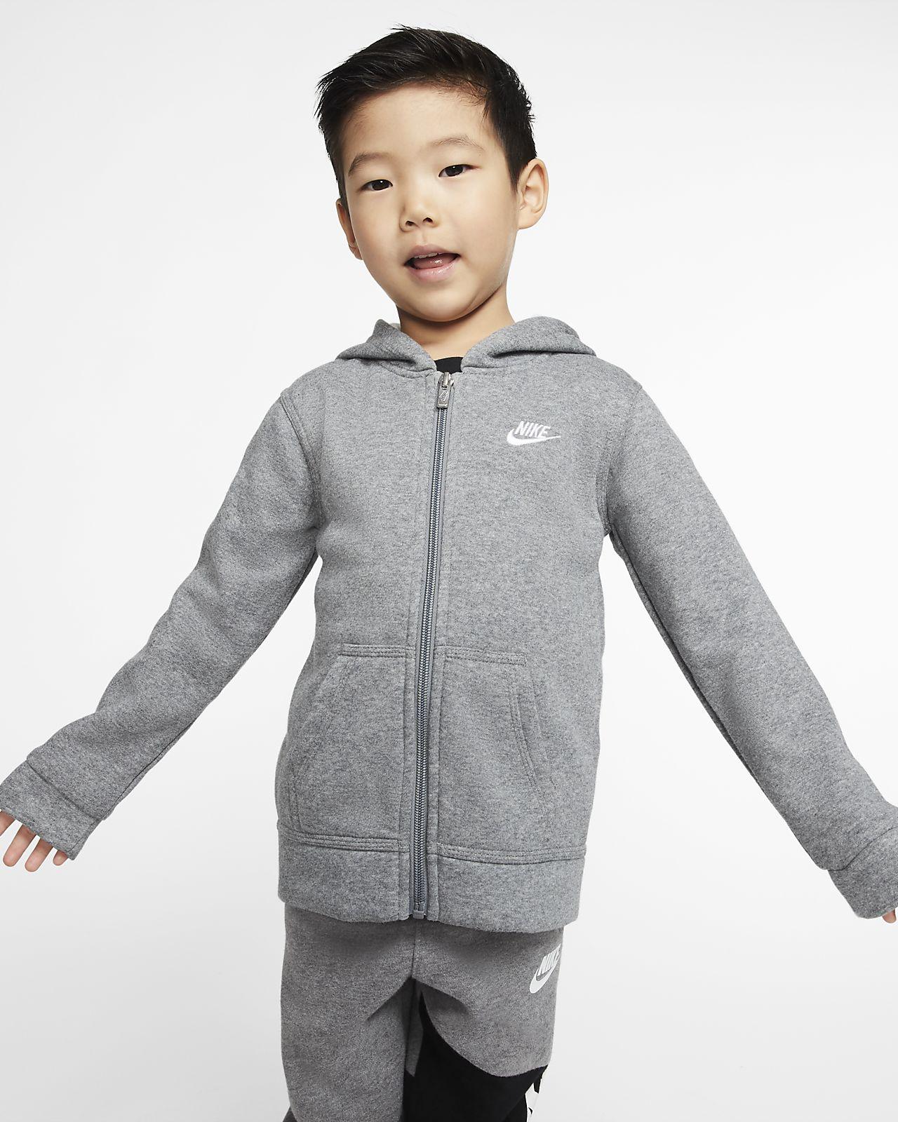 Nike Sportswear Club Fleece Hoodie mit durchgehendem Reißverschluss für Kleinkinder