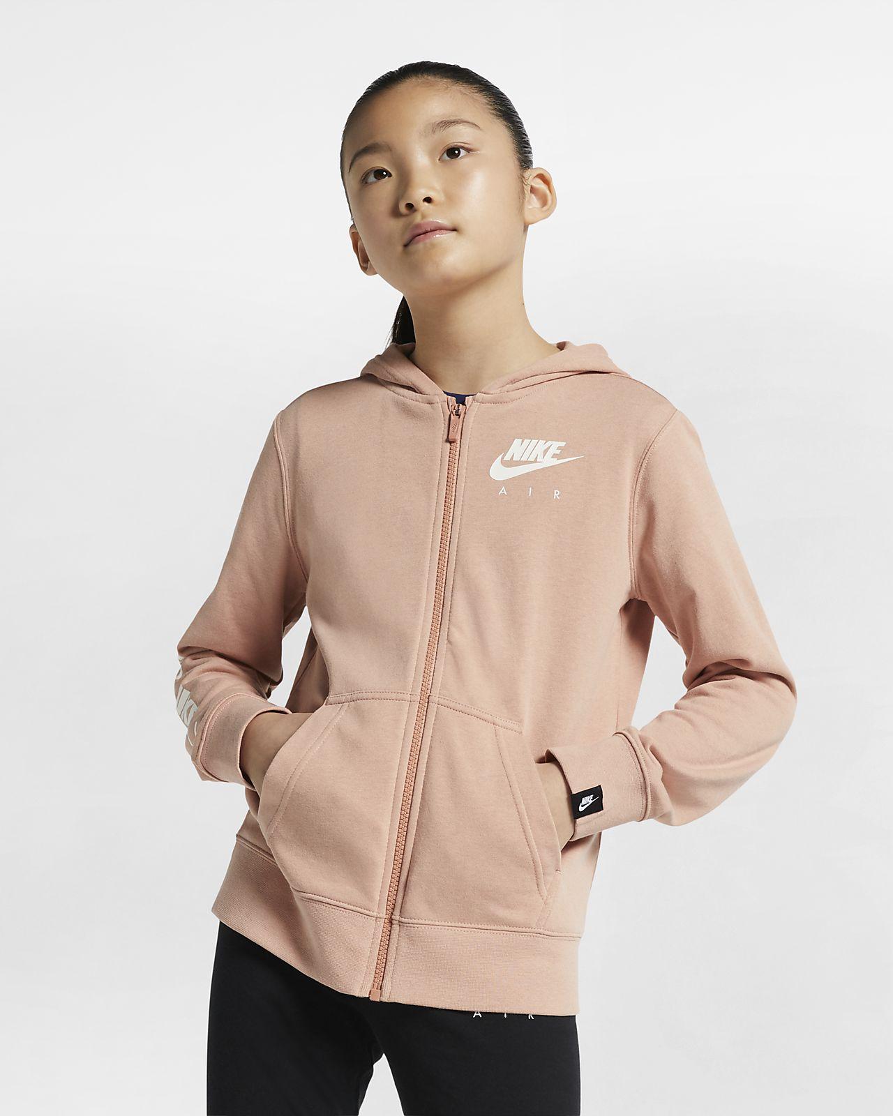 Hoodie com fecho completo Nike Air Júnior (Rapariga)
