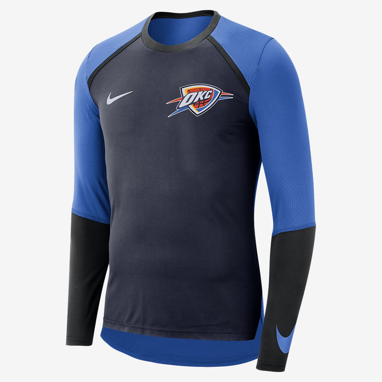 Oklahoma City Thunder Nike Dri-FIT Men s Long-Sleeve NBA Top. Nike.com 73c7a82bb