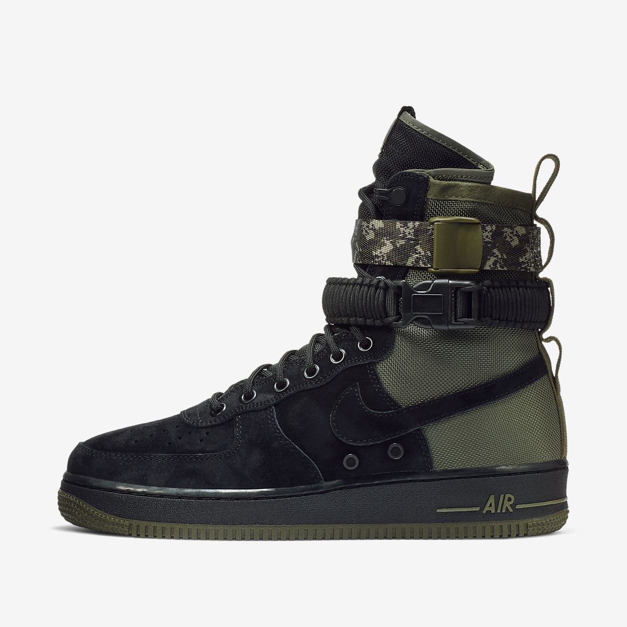 mens nike air force 1 boots black