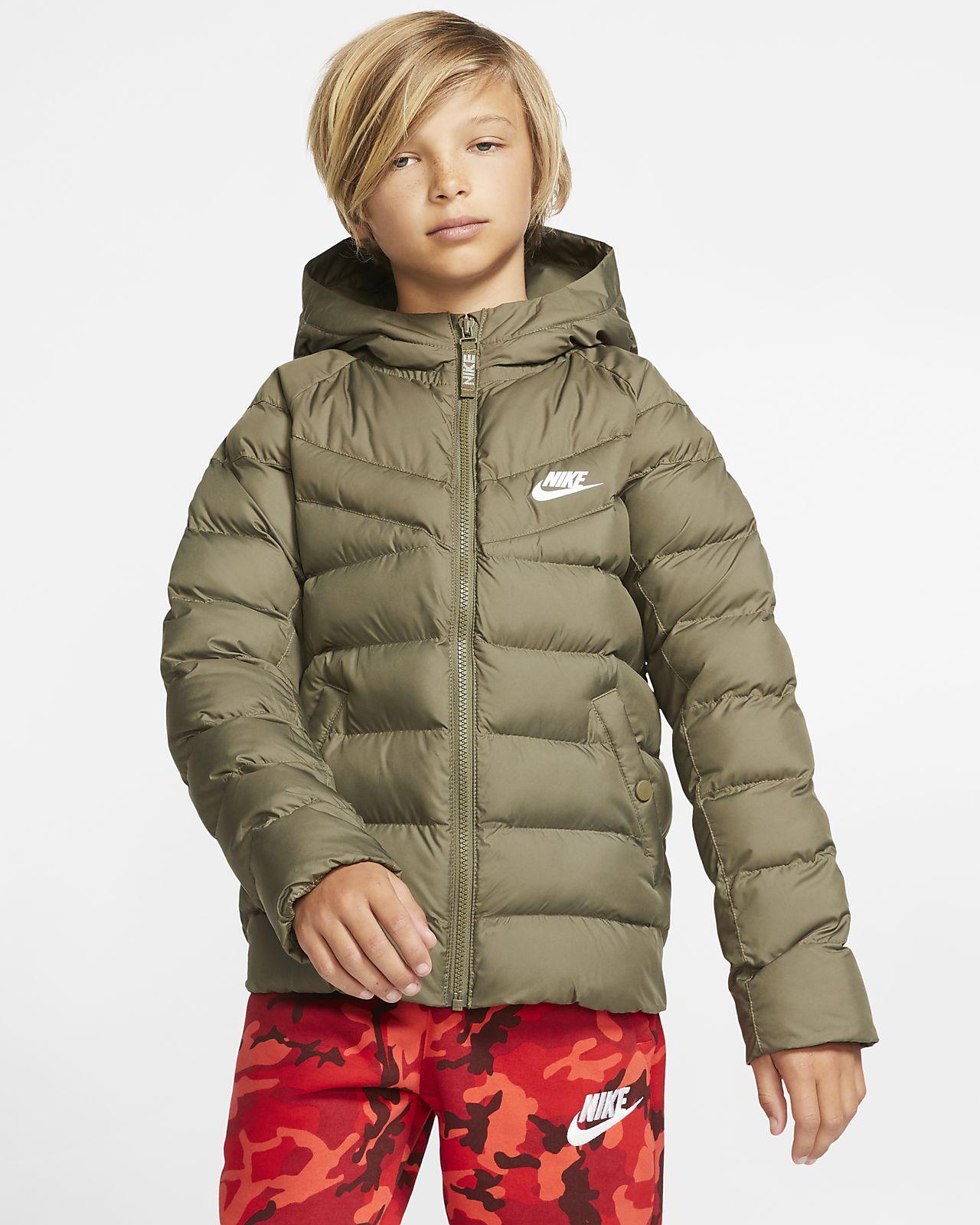 Chamarra con relleno sintético para niños talla grande Nike Sportswear