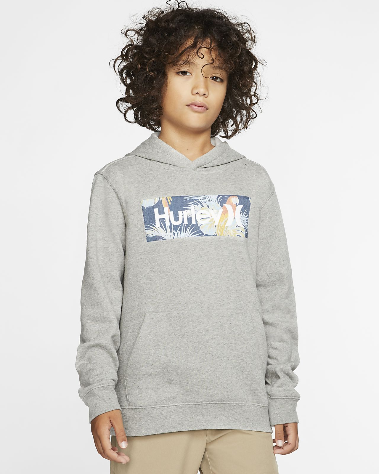 Hurley One And Only Boxed Sierra Boys' Fleece Pullover Hoodie