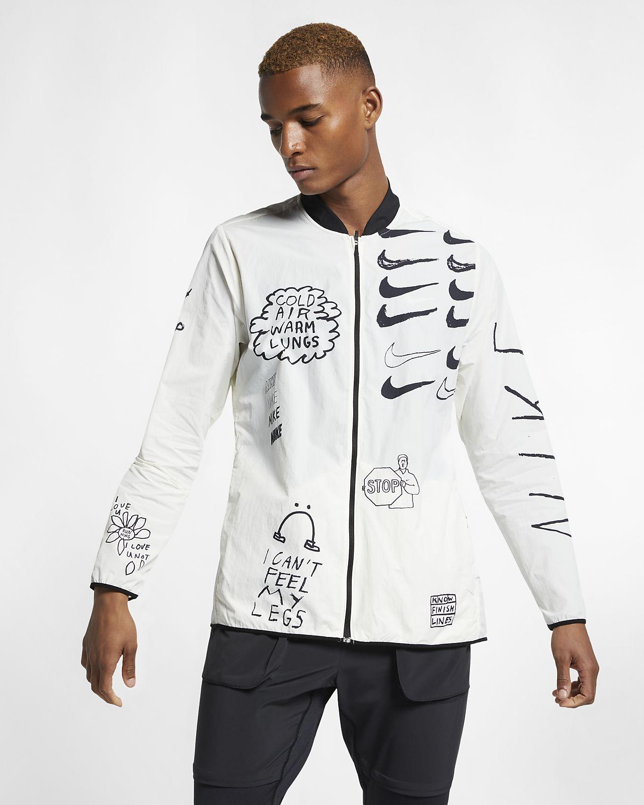 Nike Nathan Bell Baskılı Erkek Koşu Ceketi