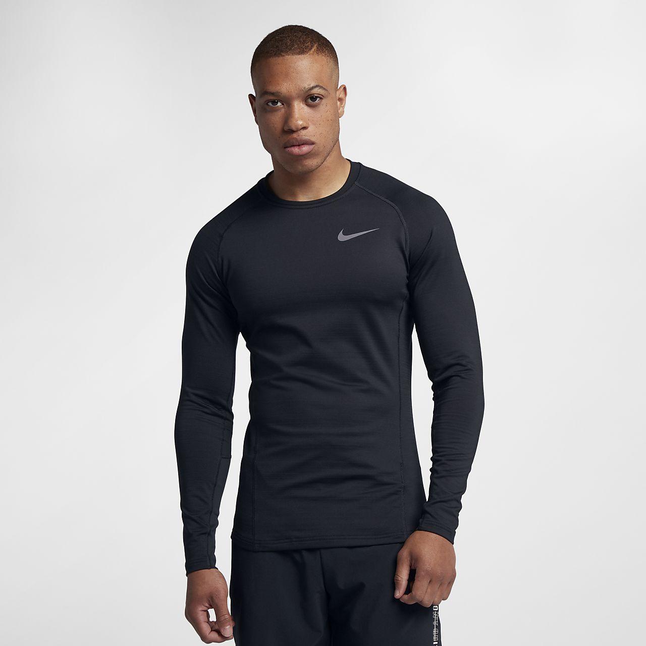 Pánské tréninkové tričko s dlouhým rukávem Nike Pro Warm