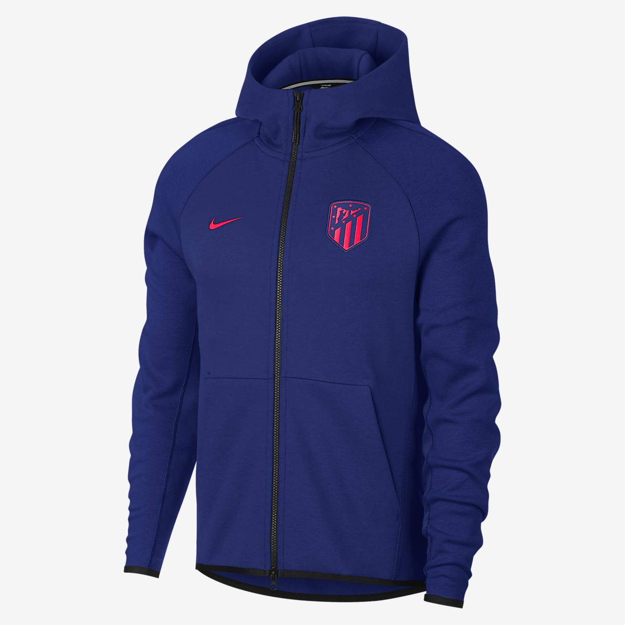 Atlético de Madrid Tech Fleece Men's Full-Zip Hoodie