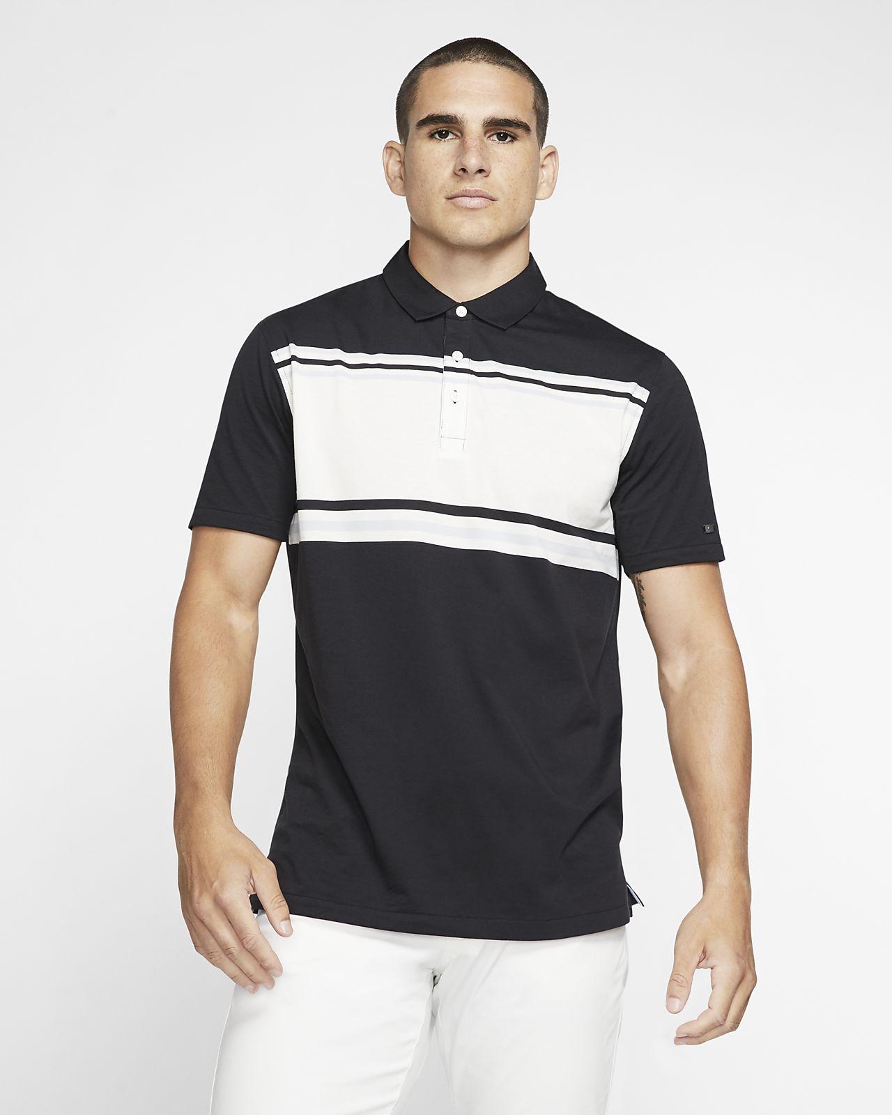 Nike Dri-FIT Player-stribet golfpolo til mænd
