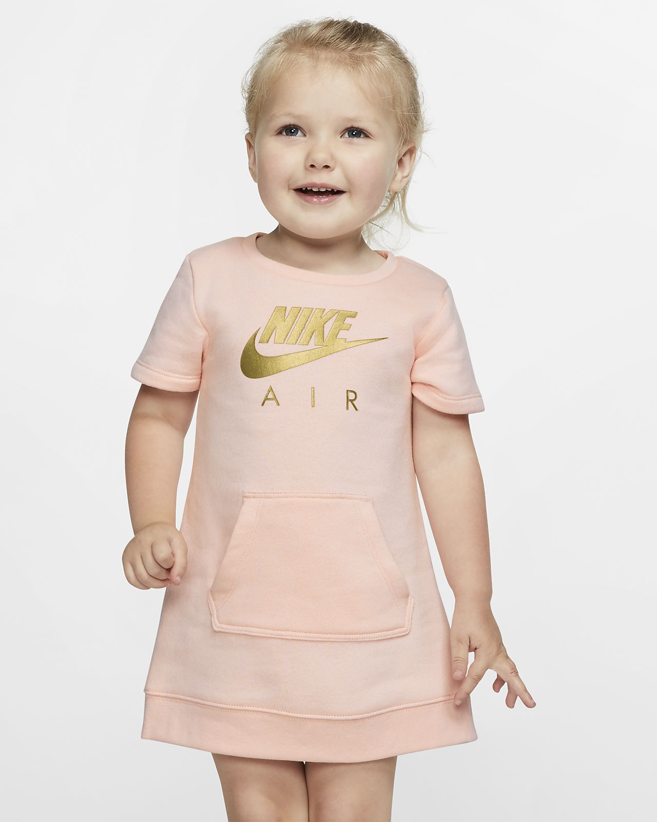 Nike Sportswear Air Toddler Short-Sleeve Fleece Dress