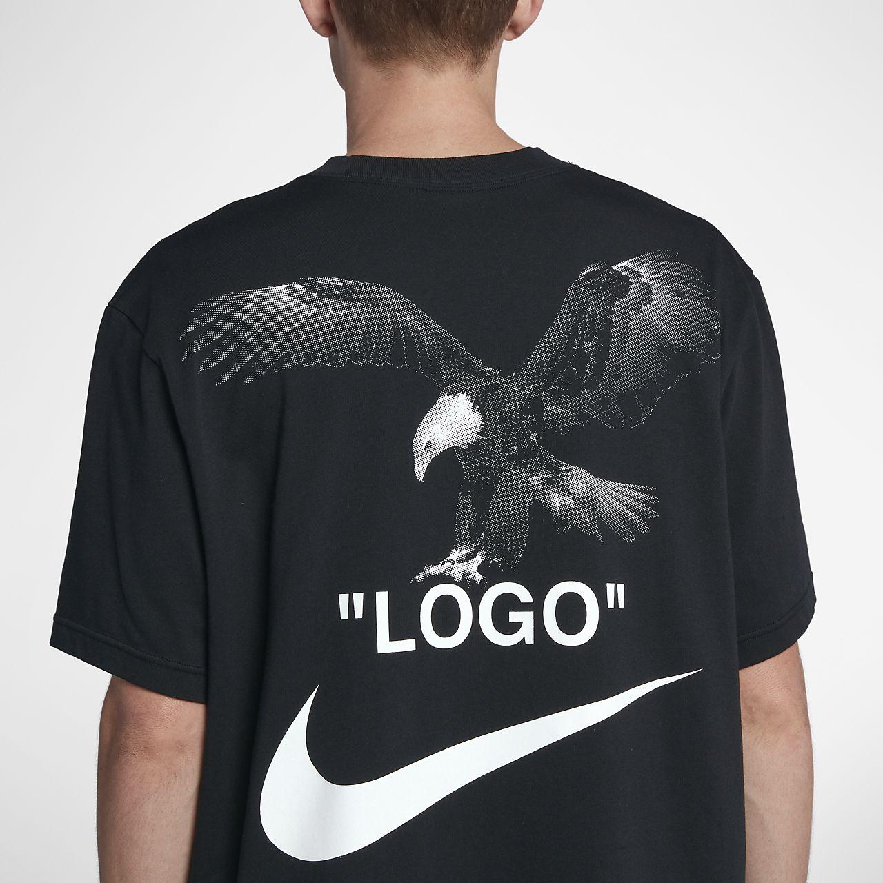 off white nike shirt logo