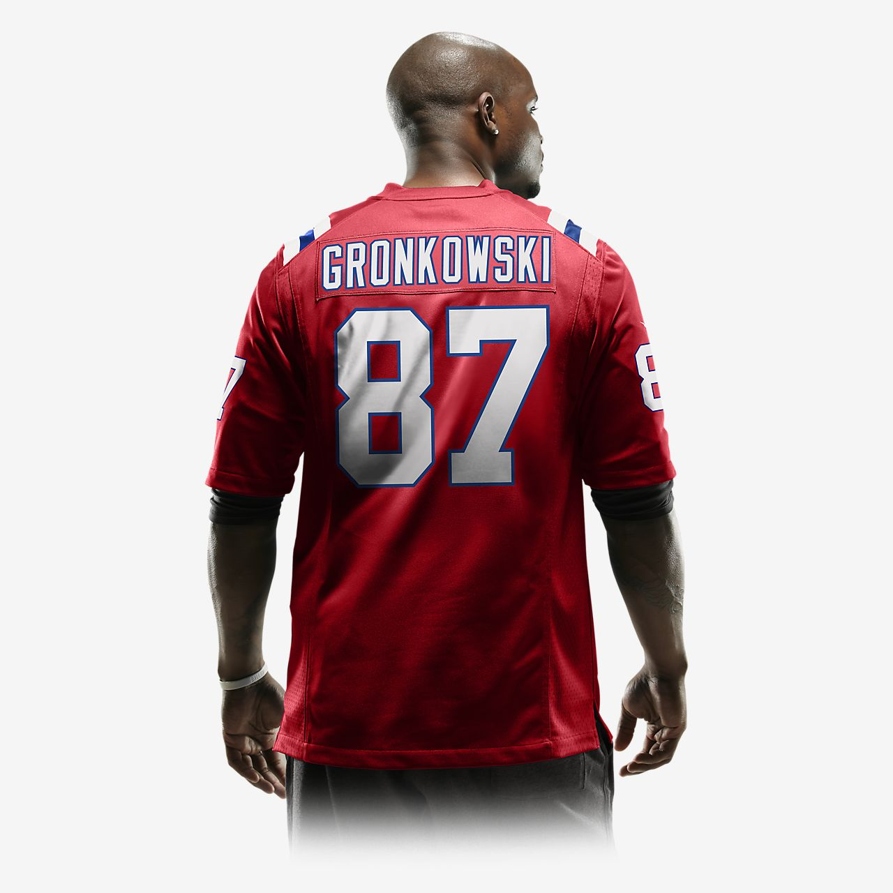 ... NFL New England Patriots (Rob Gronkowski) Men's Football Alternate Game  Jersey