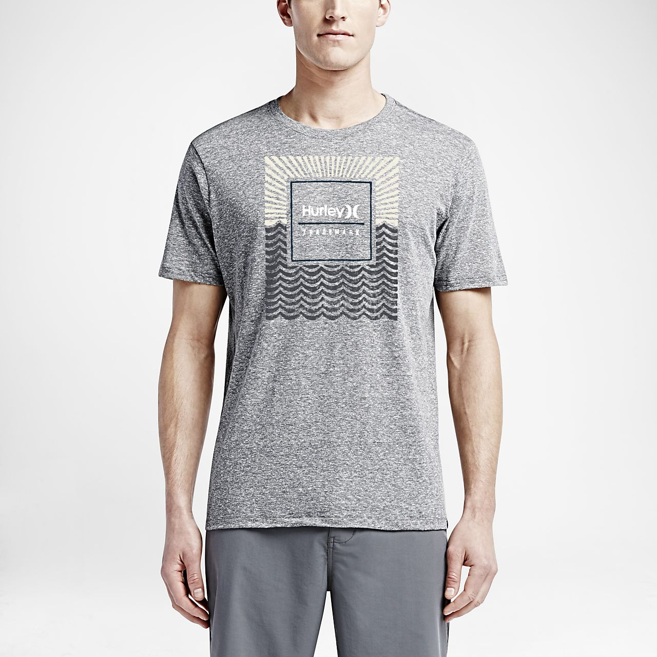 Hurley Born From Water Men's T-Shirts Charcoal