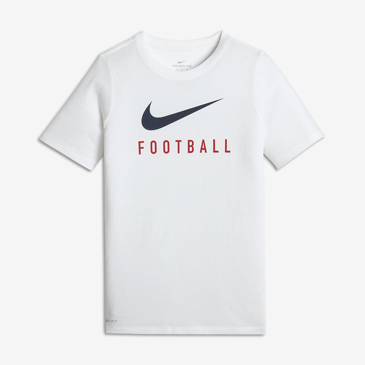 Playera de fútbol para niño talla grande Nike Dri-FIT. Nike.com MX f4cd6630c1597