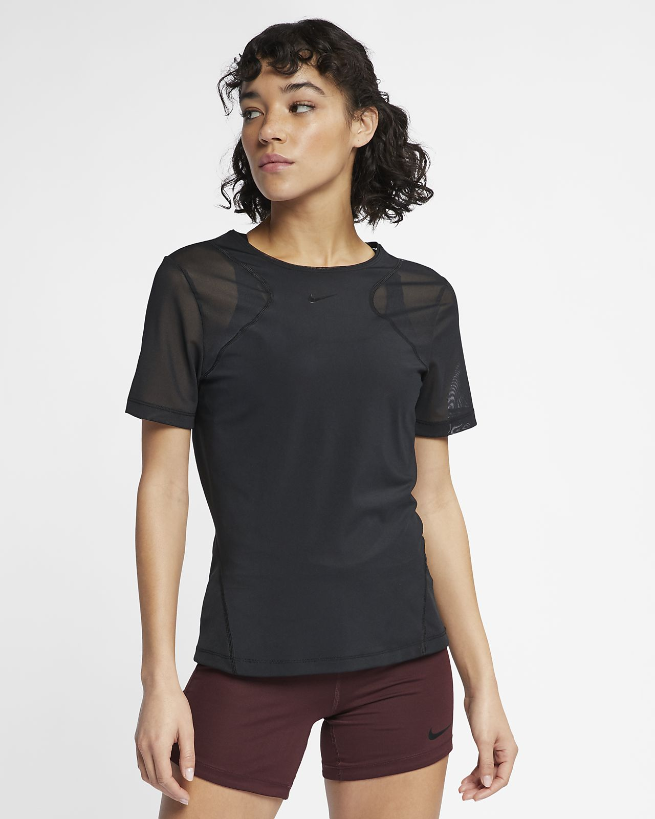 Nike Pro HyperCool Kurzarmoberteil für Damen