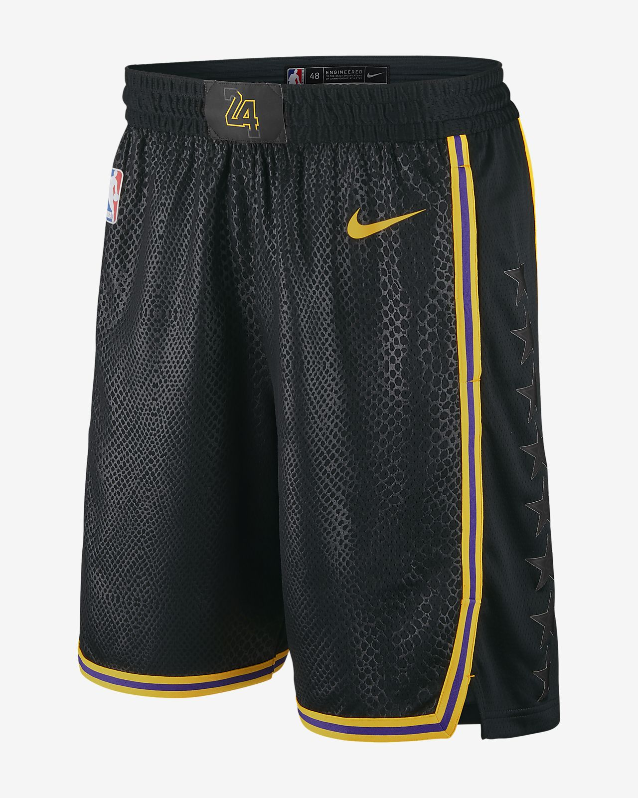 Los Angeles Lakers Nike City Edition Swingman 男款 NBA 短褲