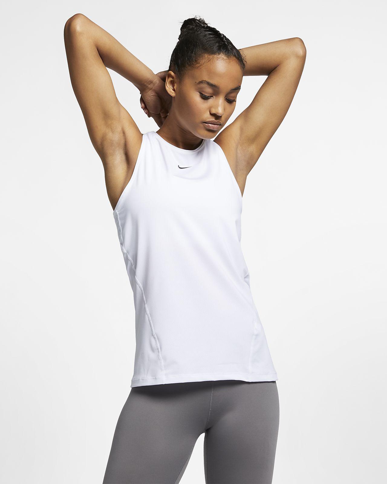 Canotta da training Nike Donna Bianco Nero Bianco