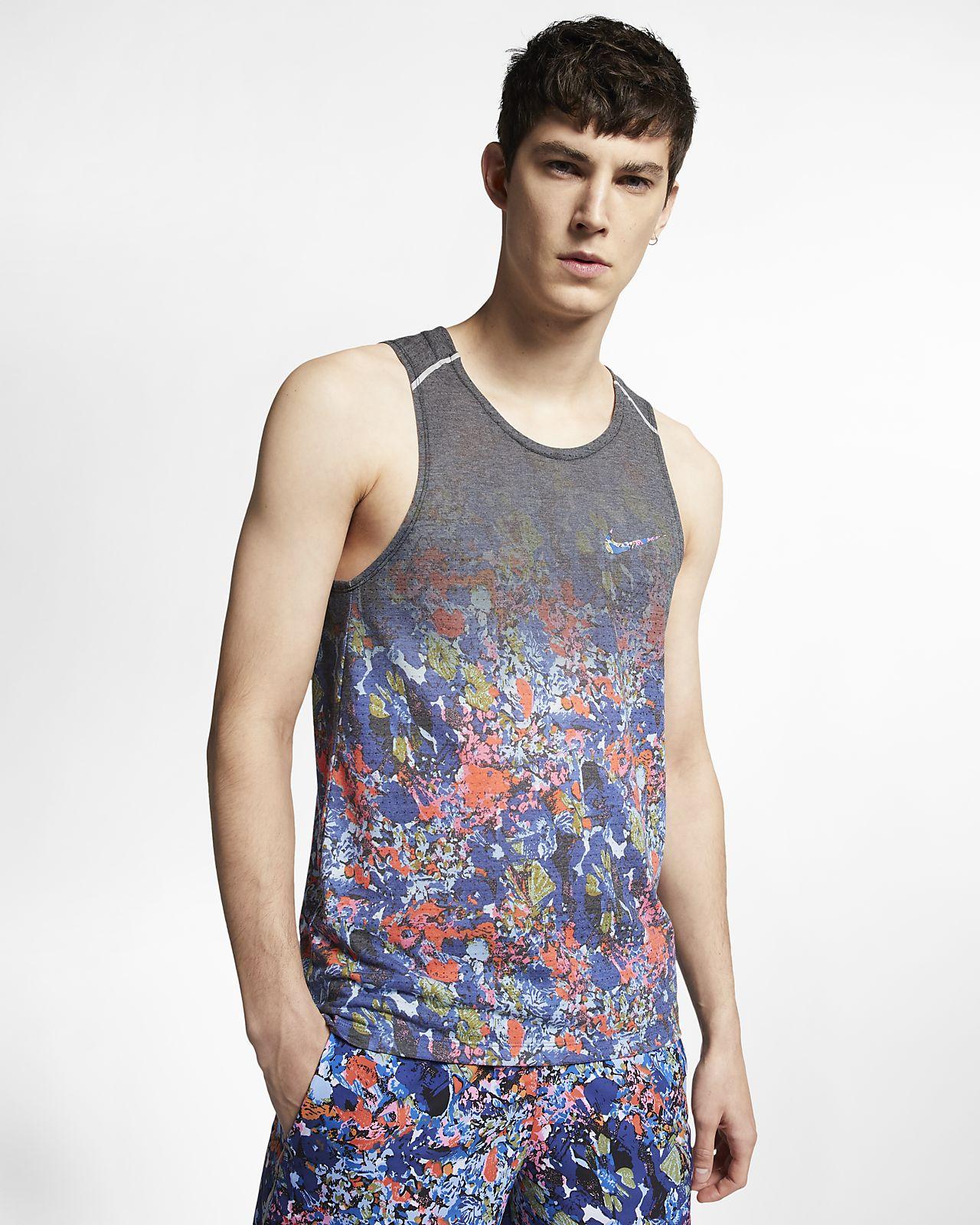 Camisola de running sem mangas estampada Nike Rise 365 para homem