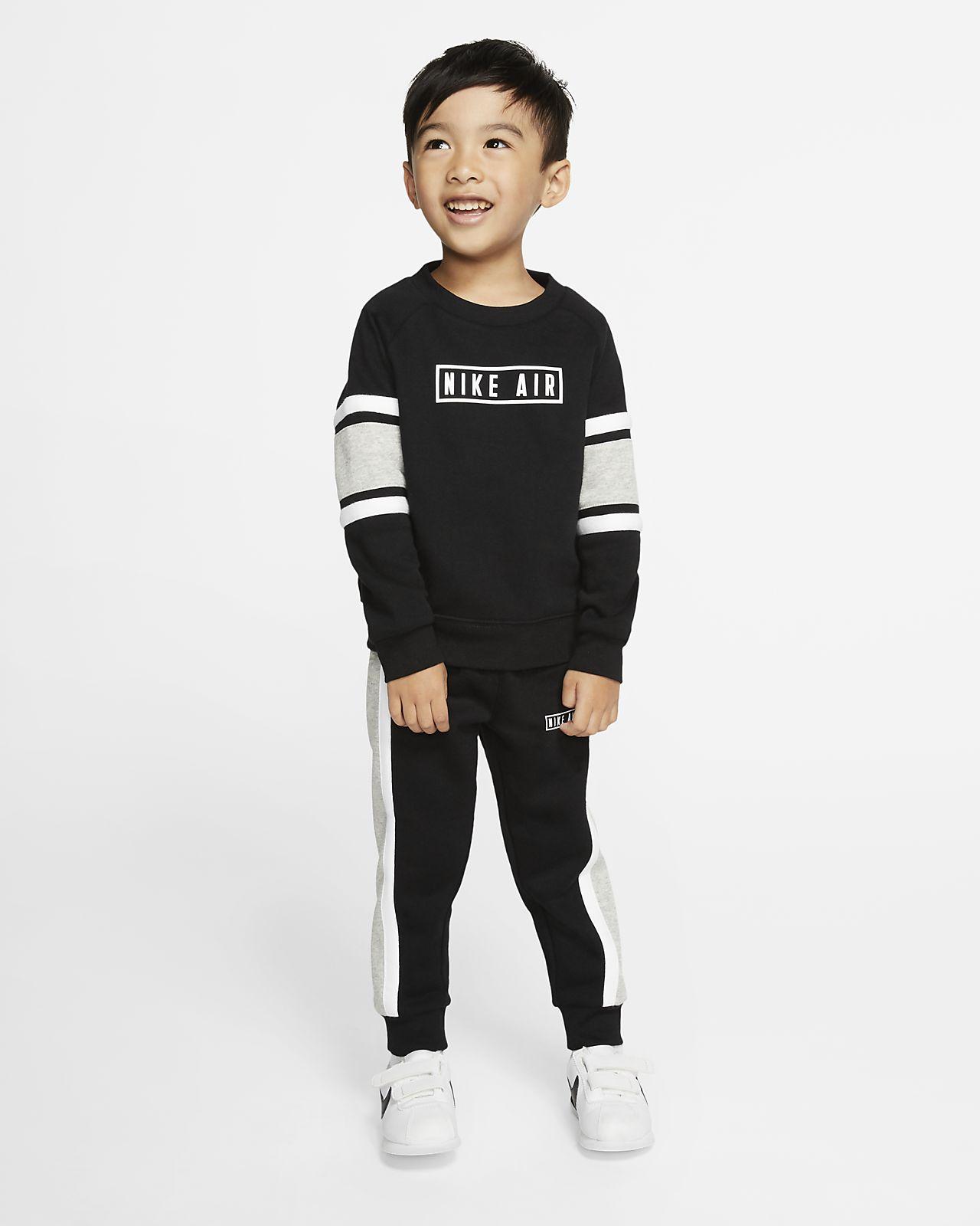 Nike Air kétrészes szett (kerek nyakkivágású pulóver és szabadidőnadrág) babáknak