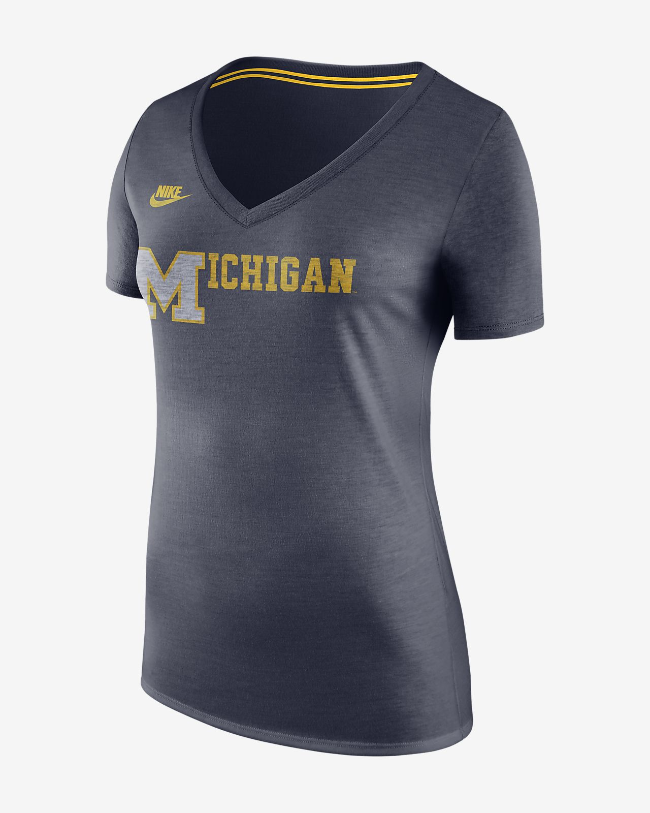 Nike College (Michigan) Women's V-Neck T-Shirt