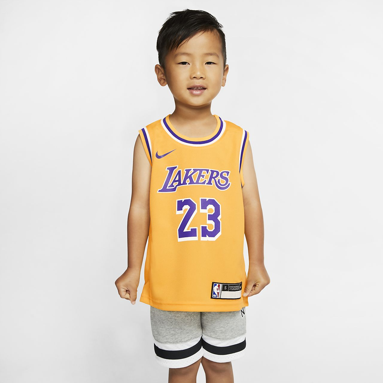 洛杉矶湖人队 Replica Icon Nike NBA Jersey 幼童球衣