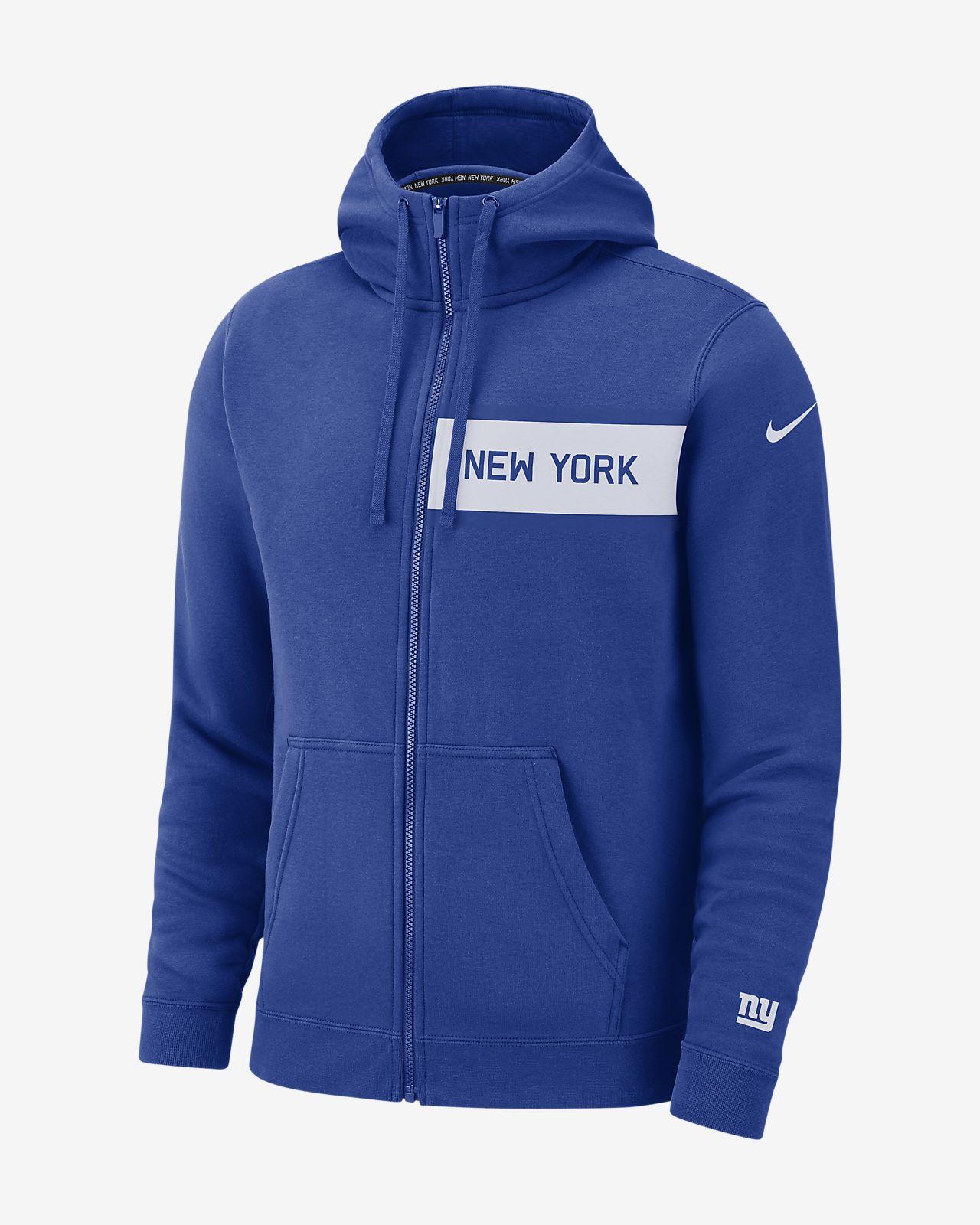 Nike (NFL Giants) Men's Club Fleece Full-Zip Hoodie