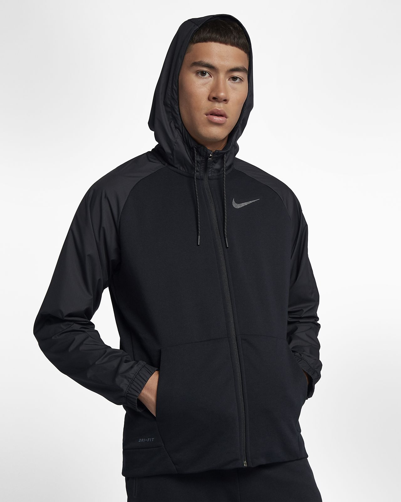 Nike Dry Training Herren Full Zip Hoodie ridgerock schwarz