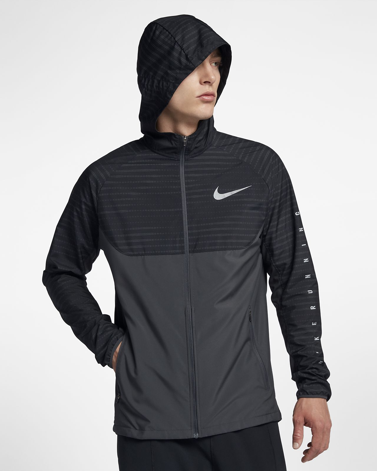 reputable site c295b 46585 ... Nike Essential Men s Hooded Running Jacket