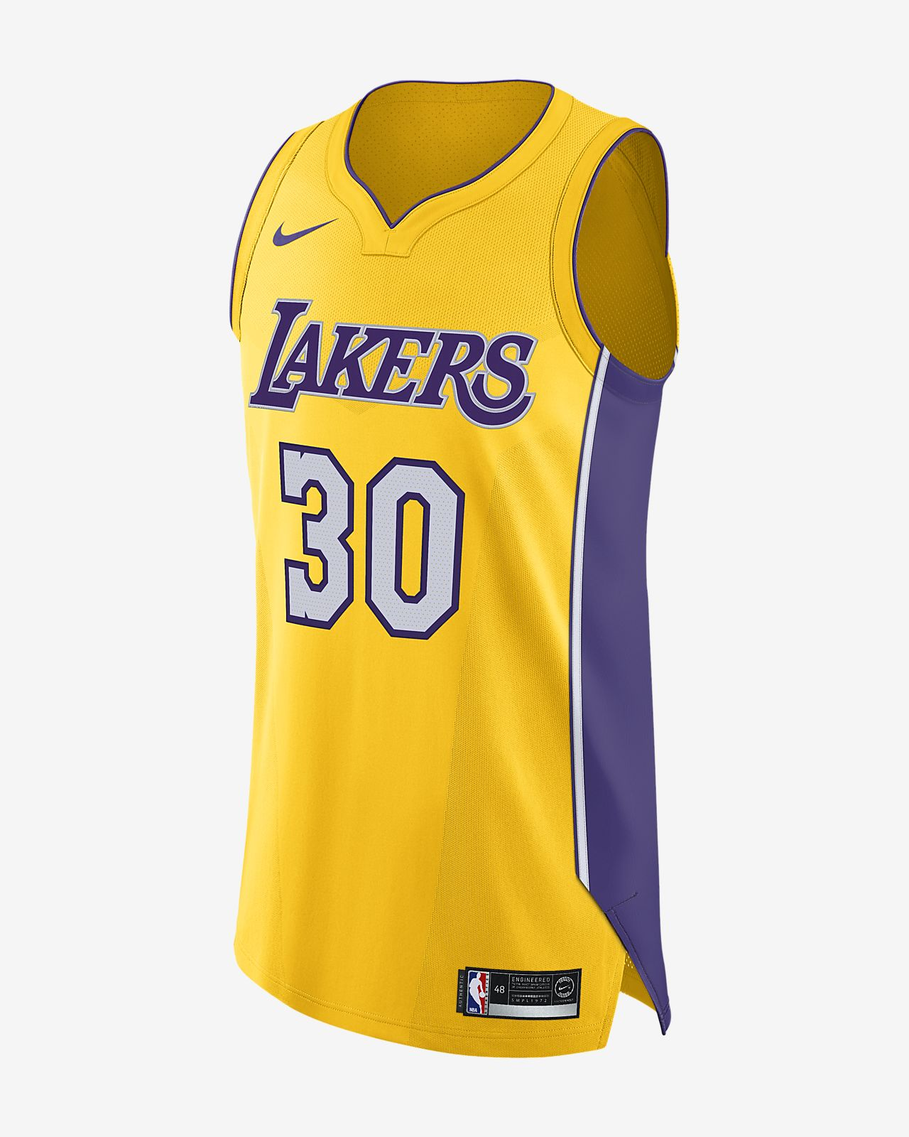 Camisola com ligação à NBA da Nike Julius Randle Icon Edition Authentic (Los Angeles Lakers) para homem