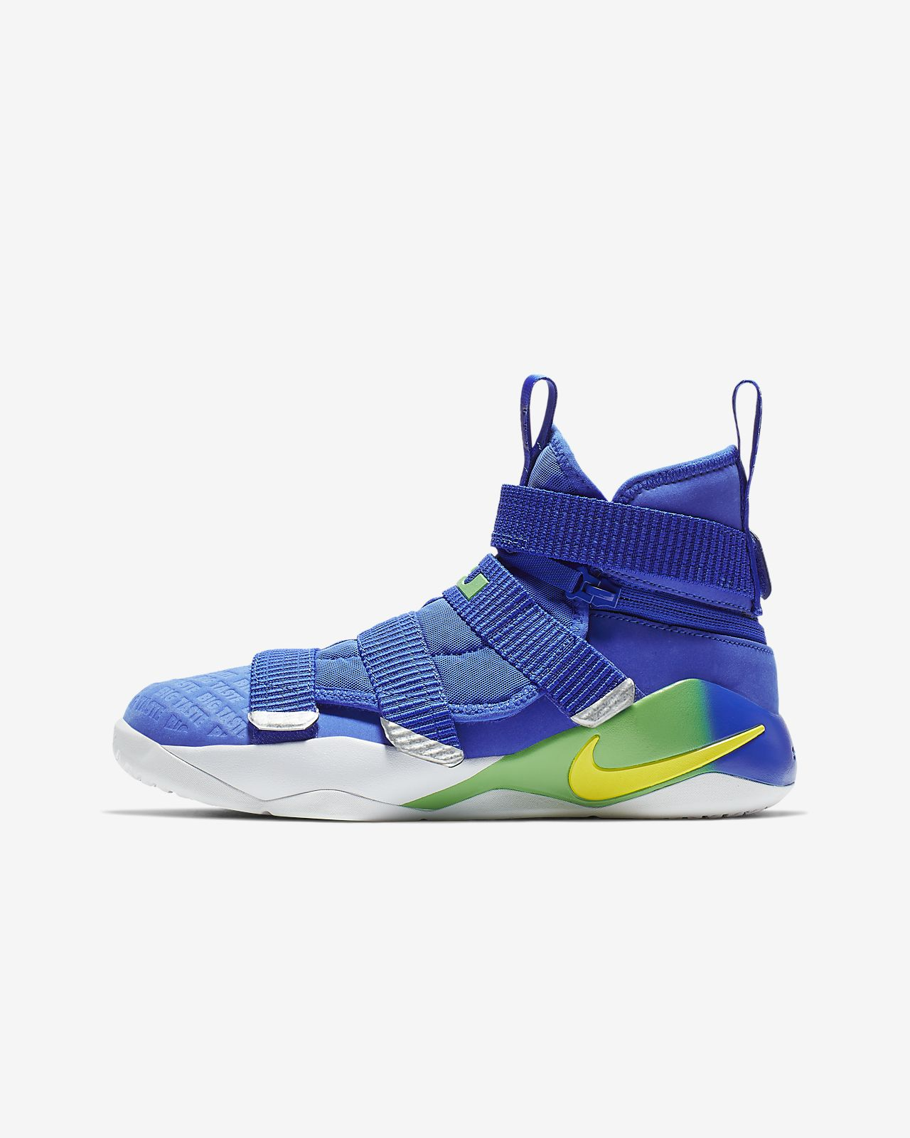 e31237529542 LeBron Soldier 11 FlyEase Big Kids  Basketball Shoe. Nike.com