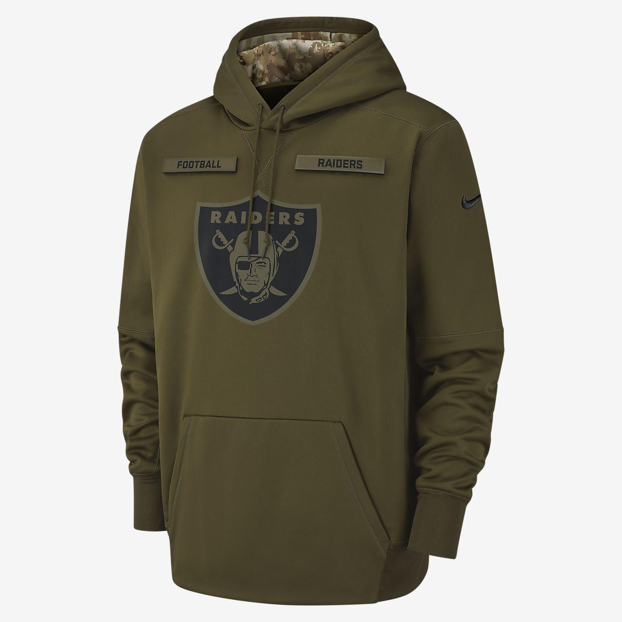 Nike Therma Salute to Service (NFL Raiders) Big Kids' Hoodie