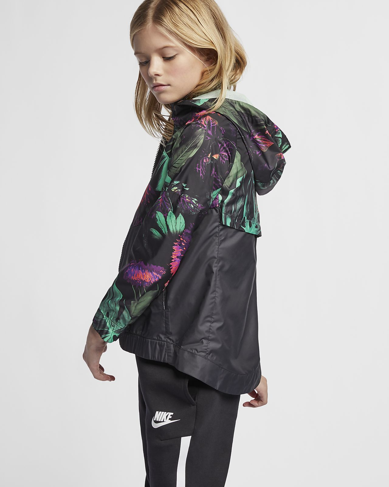 3f1b5585 Nike Sportswear Windrunner 'Floral' Older Kids' (Girls') Floral ...